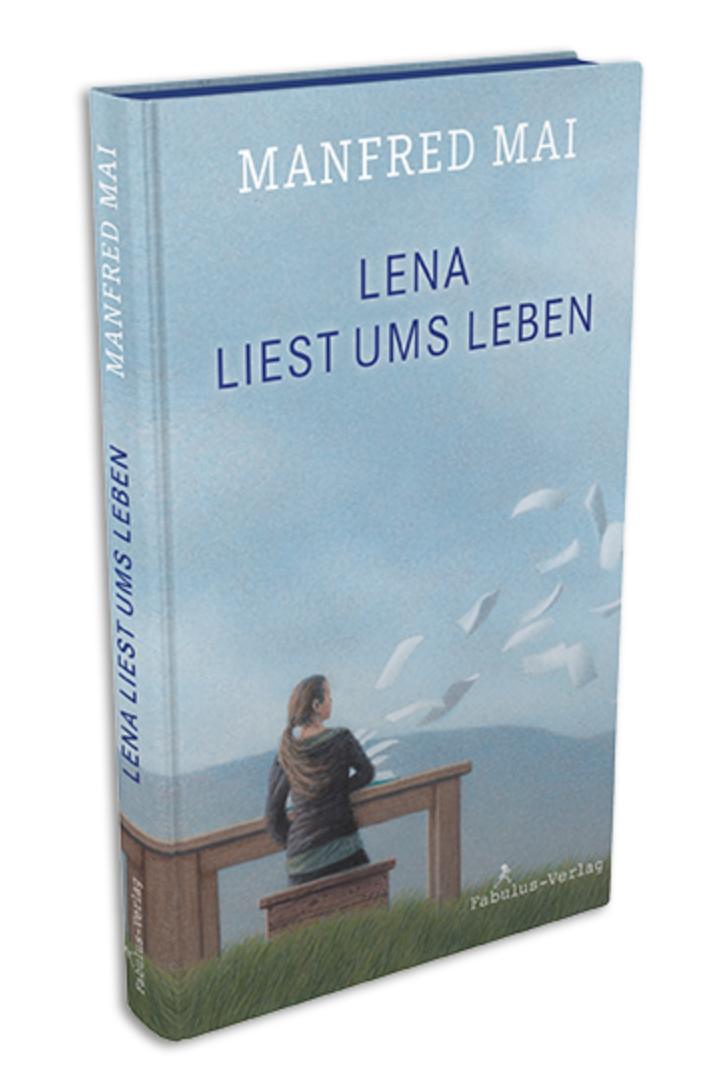 """Buchcover """"Lena liest ums Leben"""" von Manfred Mai"""